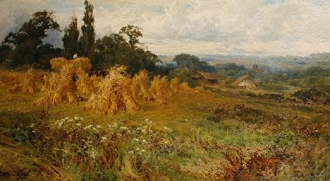 harvest time near godalming surrey by john horace hooper