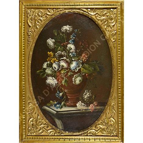 Mazzo Di Fiori In Vaso.A Vaso Di Fiori B Mazzo Di Fiori By Gasparo Lopez On Artnet
