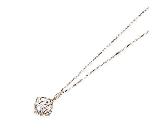 a pendant suspended from chain by tacori