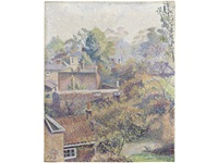 a chiswick back garden by lucien pissarro