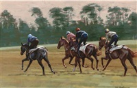 winding up gallop, newmarket by neil cawthorne
