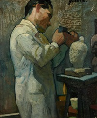 le sculpteur by móric gábor