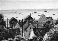 overlooking the harbor, provincetown by samuel brecher