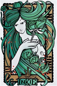 wing and a prayer-green by inkie