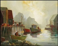 peggy's cove by william edward de garthe
