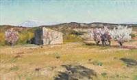 paysage des alpilles by august l. roure