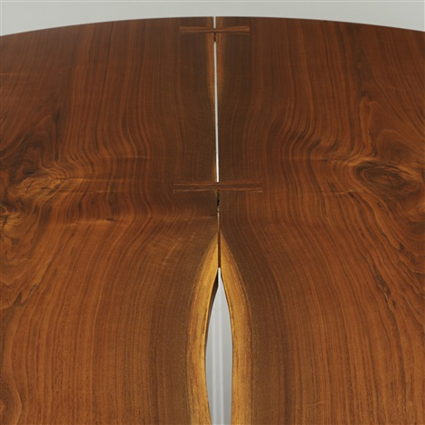 round cluster based dining table by george nakashima