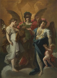 the archangel with saints by corrado giaquinto