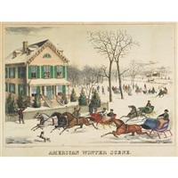 american winter scene by joseph hoover