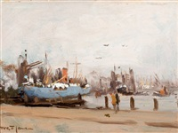 haventje harlingen by willem george frederik jansen