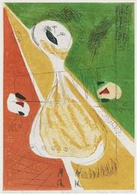 a sosaku hanga print by hideo hagiwara