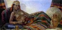 odalisque aux seins nus by mario cherubini