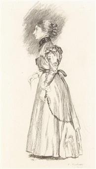 damenfigur (study) by eugene kirchner