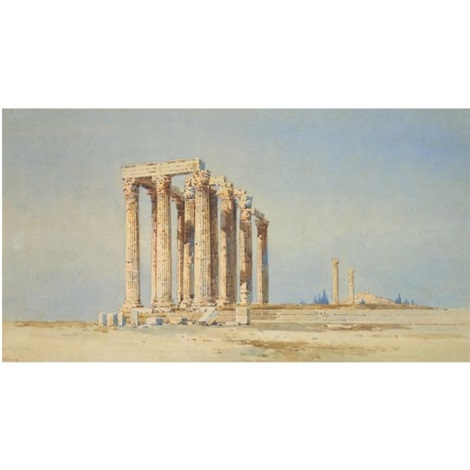 the temple of olympeus zeus athens by angelos giallina