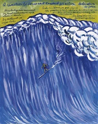 no title (a reaction to...) by raymond pettibon