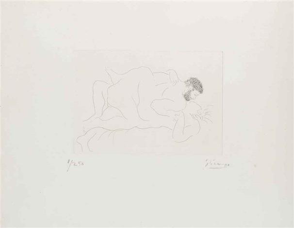 homme et femme by pablo picasso