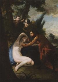 satiro e ninfa by godier
