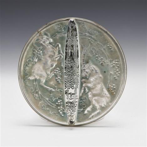 mirror deux chevres by rené lalique