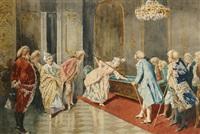 billiards in the parlour by giovanni battista filosa