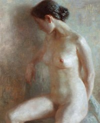 坐姿 (nude figure) by ma lin