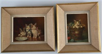 portraits de chats (2 works) by jules gustave leroy