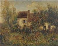 maison dans un jardin fleuri by michel korochansky