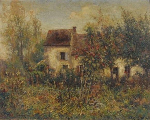 Maison Dans Un Jardin Fleuri By Michel Korochansky On Artnet