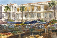 the place du palais, nice by james kramer