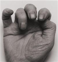 self-portrait (front hand iii) by john coplans