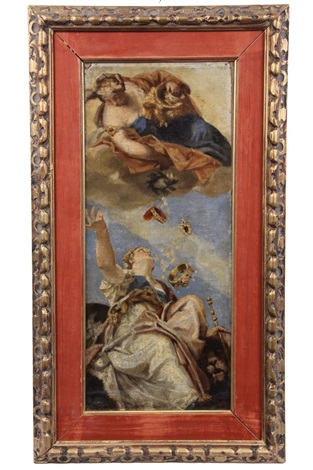 sketchfragment for the ceiling fresco of the church of san felice by giovanni battista tiepolo