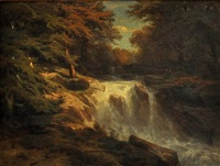 forest cascade by alexandre calame