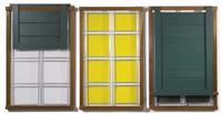 morning, noon & night windows (in 3 parts) by siah armajani