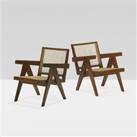 pair of lounge chairs from chandigarh (pair) by pierre jeanneret