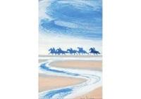 cavaliers sur la plage by andré brasilier