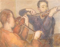 violinists by bernard gussow