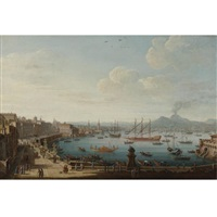 view of naples from the strada di santa lucia by pietro antoniani
