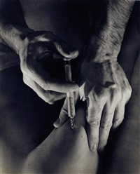 hands with syringe by john muller