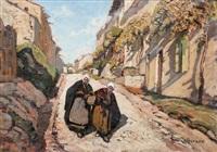 rue de village by joseph marius hurard