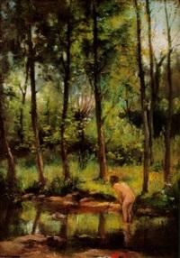 paisaje con desnudo femenino by joaquín mombrú ferrer