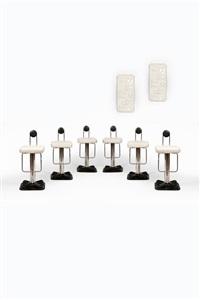 paire de panneaux lumineux modèle arabesco (pair) by giacomo benevelli