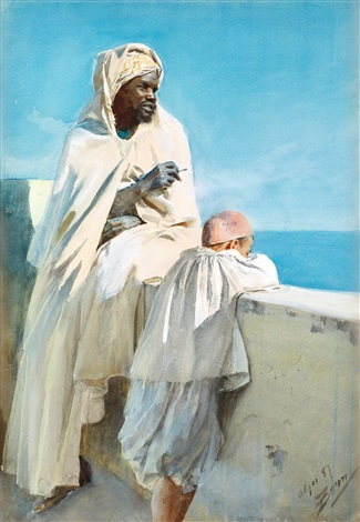 on the terrace, algiers by anders zorn