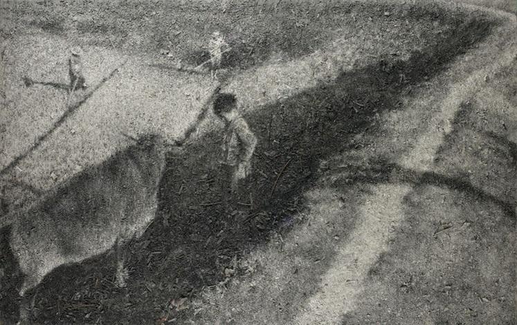 grazing by zhang huan