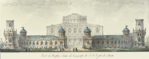 the petrovsky palace outside moscow by giacomo quarenghi