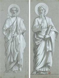 saint joseph (+ saint marc; 2 works) by camille auguste gastine