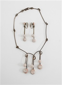 necklace (+ earrings; set of 2) by elsa freund