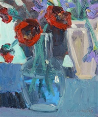 poppies and irises by brian ballard