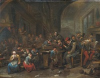 interior of a schoolroom by bernardus van schendel