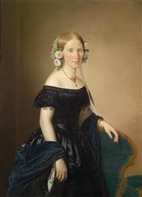 bildnis einer dame mit rosen im haar by joseph weidner