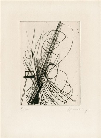 eau forte 006 by hans hartung