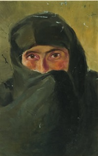 kadin portresi by celile hikmet